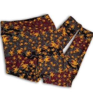 LuLaRoe Autumn Print leggings, NEW, One-Size